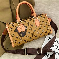 Louis Vuitton LV new product classic letter printing pendant ladies two-piece shopping single shoulder bag messenger bag handbag