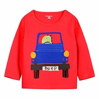 Boys T-shirt Kids Clothes Boys Tops Tees Children T shirts Car Print Baby Clothes Boys T shirt Long Sleeve