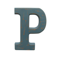 Make Market™ Blue Vintage Letter P, 5 7/8""