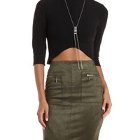 Sunday Rumors Ribbed Mock Neck Crop Top by Charlotte Russe