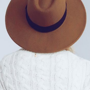 Found You There Hat: Taupe/Black