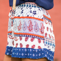 Patch Me If You Can Shorts, Navy-Orange