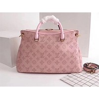 LV Popular Fashion Full-print Single Shoulder Bag Pink