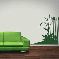 Cattail Plants Wall Decal