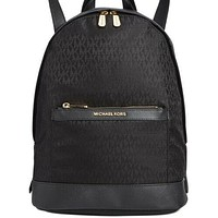 Michael Kors MK Morgan Nylon Backpack Black and Gold 100% Authentic MSRP $298