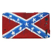 Rebel Flag Motorola Droid RAZR Case from Zazzle.com