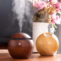 Mini Portable Mist Maker Aroma Essential Oil Diffuser Ultrasonic Aroma Humidifier Light Wooden USB Diffuser For Home Office