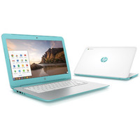 "Walmart: HP White/Turquoise 14"" 14-x010wm Chromebook PC with NVIDIA Tegra K1 Mobile Processor, 2GB Memory, 16GB eMMC and Chrome OS"
