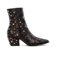 Matisse x Kate Bosworth Charlotte Zip Star Studded Bootie in Black