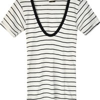 Edith A. Miller Scoop Neck Natural w/ Black
