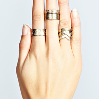 Annie Embossed Ring Stack