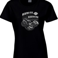 Harley Davidson Usa Motorcycles Made With Pride Womens T Shirt