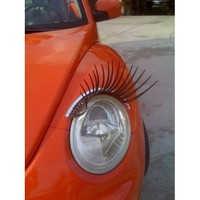 Round Black CarLashes for VW Beetle, Jeep Liberty, Mini Cooper Authorized CarlashesTM Reseller