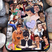 harry styles collage one direction art for iPhone 4/4s/5/5S/5C/6, Samsung S3/S4/S5 Unique Case *95*