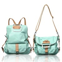 Juice Action Women's Canvas Chevron 14 Inch Laptop Backpack Travel Bag Mint