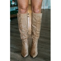 Lacey Knee High Boots - Almond