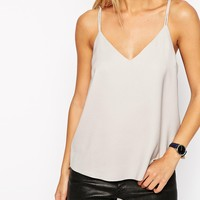 ASOS TALL Plunge Neck Strappy Cami Top