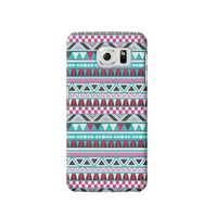 P1793 Aztec Pattern Case For Samsung Galaxy S6
