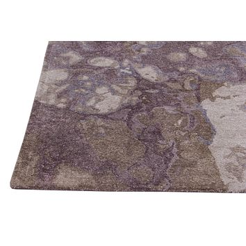 Abstract Purple Color Hand Tufted Modern Style Bamboo Silk Area Rug