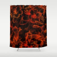 Cosmic Flora Sunburst Shower Curtain by Page394