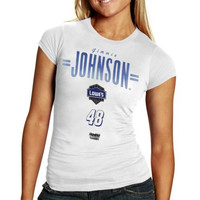 The Game Jimmie Johnson Ladies Slim Fit Driver T-Shirt - White