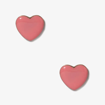 Lacquered Heart Studs
