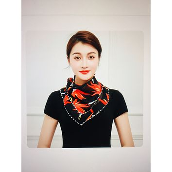 1 Fits All - BlackRFloral - Face Mask Scarf