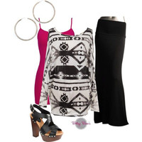 Set 360: Black Maxi Skirt Set (shoes not included)