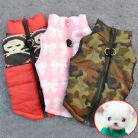 Clothes For Dogs Winter Warm Pet Dog Clothes Vest Harness Puppy Coat Jacket Apparel 6 Color Large