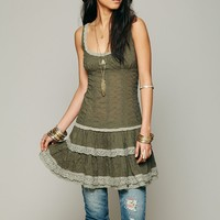Free People Eyelet Flounce Dress