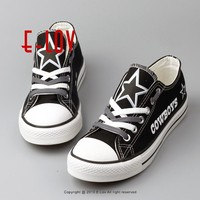 Free Shipping Dallas Cowboys USA Canvas Shoes With Star Graffiti Football Team Fans Shoes Boy Men Print Casual shoes Gift