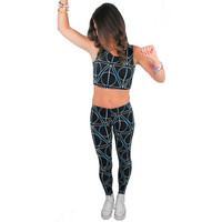 Triangles and Circles Rave Crop Top