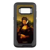 Mona Lisa With Bandaged Ear Van Gogh Hat And Pipe OtterBox Defender Samsung Galaxy S8 Case