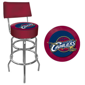 Cleveland Cavaliers NBA Padded Swivel Bar Stool with Back
