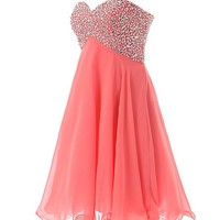 Dressystar Sweety Girls Cocktail Homecoming Gowns Prom Pageant Dress Lace-up Size 2 Black