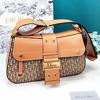 DIOR Fashion New More Letter Leather Shopping Leisure Shoulder Bag Women