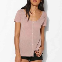 Project Social T Sheer Button-Down Tee-