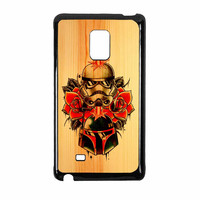 Star Wars Roses Tatto In Wood Samsung Galaxy Note Edge Case