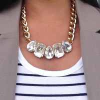 Geometric Crystal Statement Necklace