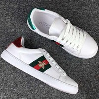Gucci:Trending Fashion Casual Running Sports Bee Shoes White G