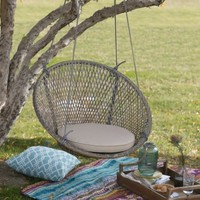 Island Bay Saria Resin Wicker Single Swing Chair with Seat Pad - Walmart.com