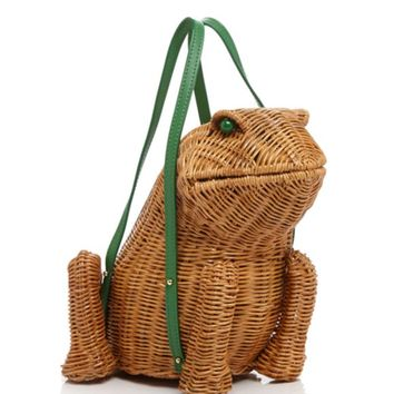 kate spade new york Clutch - Spring Forward Wicker Frog | Bloomingdales's