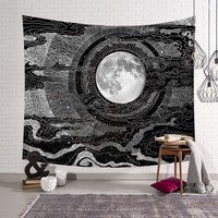 Sun Starry Tapestry Wall Hanging Wall Tapestry Blanket Tapestries for Living Room Bedroom Farmhouse Decor Beach Mat Yoga Shawl