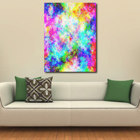 Large XL Abstract Print on Canvas Eye of the Storm Bright Colors 36x24 Limited Edition