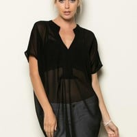 SEE-THROUGH TUNIC W/ TANK TOP AND BELT INCLUDED