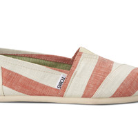 TOMS Coral Stripes Women's Classics No color specified