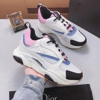 Dior White/Pink Fashion Casual Sneakers Sport Shoes Size 36-45