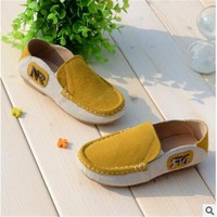 Genuine  Leather  Boys Color Leisure Sports Shoes