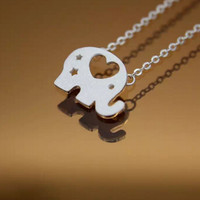 Cute little elephant 925 Sterling Silver necklace, a perfect gift
