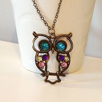 'Perched Owl' Necklace